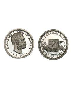 1997 KING KALAKAUA HALF OUNCE PLATINUM PUELA