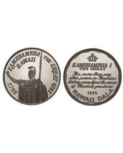 1986 KING KAMEHAMEHA SILVER HAWAII  DALA