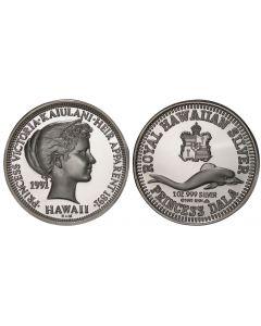 1991 PRINCESS KAIULANI SILVER DALA