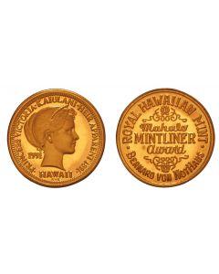 1991 PRINCESS KAIULANI MAHALO MINTLINER AWARD