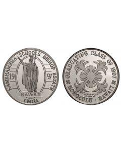 1997 KAMEHAMEHA SCHOOL SR. CLASS SILVER COIN