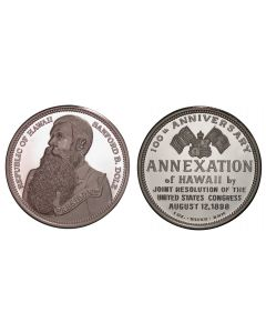 1998 100TH ANNIVERSARY OF ANNEXATION SILVER DALA