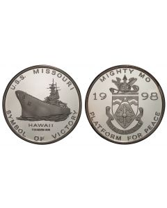 1998 USS MISSOURI SILVER PROOF