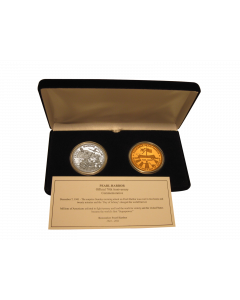 2011 PEARL HARBOR 70TH ANNIVERSARY SILVER & BRONZE SET