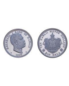 2004 KING KALAKAUA SILVER $10 DALA