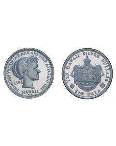 2004 PRINCESS KAIULANI SILVER $10 DALA