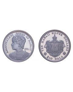 2004 QUEEN LILIUOKALANI SILVER $10 DALA