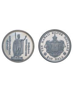 2004 KING KAMEHAMEHA SOVEREIGN SILVER $10 DALA