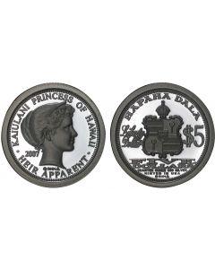 2007 PRINCESS KAIULANI $5 HAWAII DALA