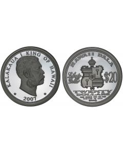 2007 KING KALAKAUA $20 HAWAII DALA