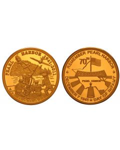 2011 PEARL HARBOR 70TH ANNIVERSARY BRONZE POOF