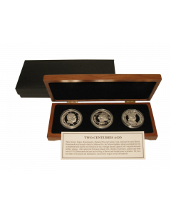 2014 KING KAMEHAMEHA, MADAME PELE AND CAPTAIN COOK - SILVER DALA SET