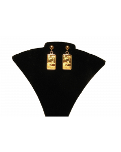 GOLD ALOHA INGOT CLASSIC EARRINGS
