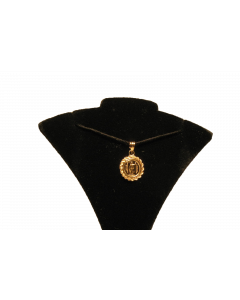 KING KAMEHAMEHA IKI GOLD PENDANT - IN 14K ROPE MOUNTING