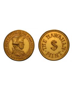 1978 CAPTAIN COOK WITH THE HAWAIIAN MINT - COPPER/GOLD PLATED