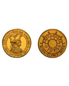 1978 CAPTAIN COOK WITH KONA COAST BANK - COPPER/GOLD PLATED